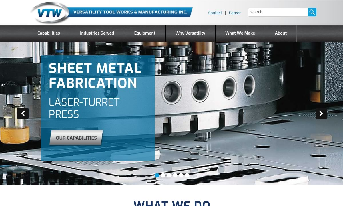 Versatility Tool Works and Manufacturing Company, Inc.