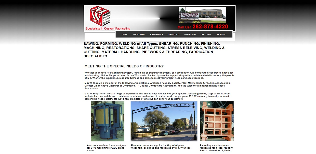 M & W Shops | Metal Fabricators