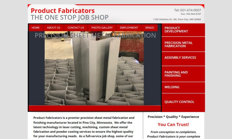 Product Fabricators, Inc.