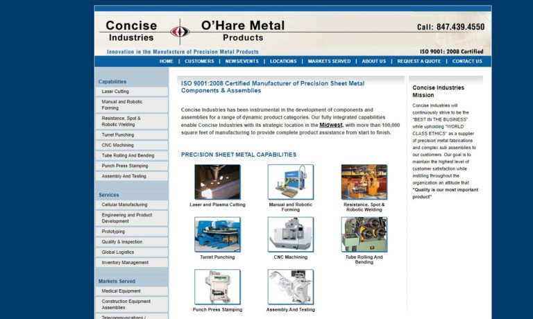 O'Hare Metal Products/Concise Industries